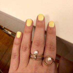 Jewelry - Gold plated and Pearl ring set